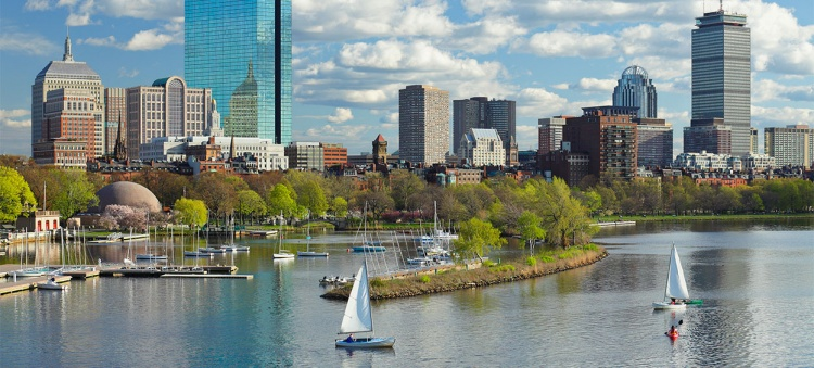 Vue d'ensemble de la ville de Boston